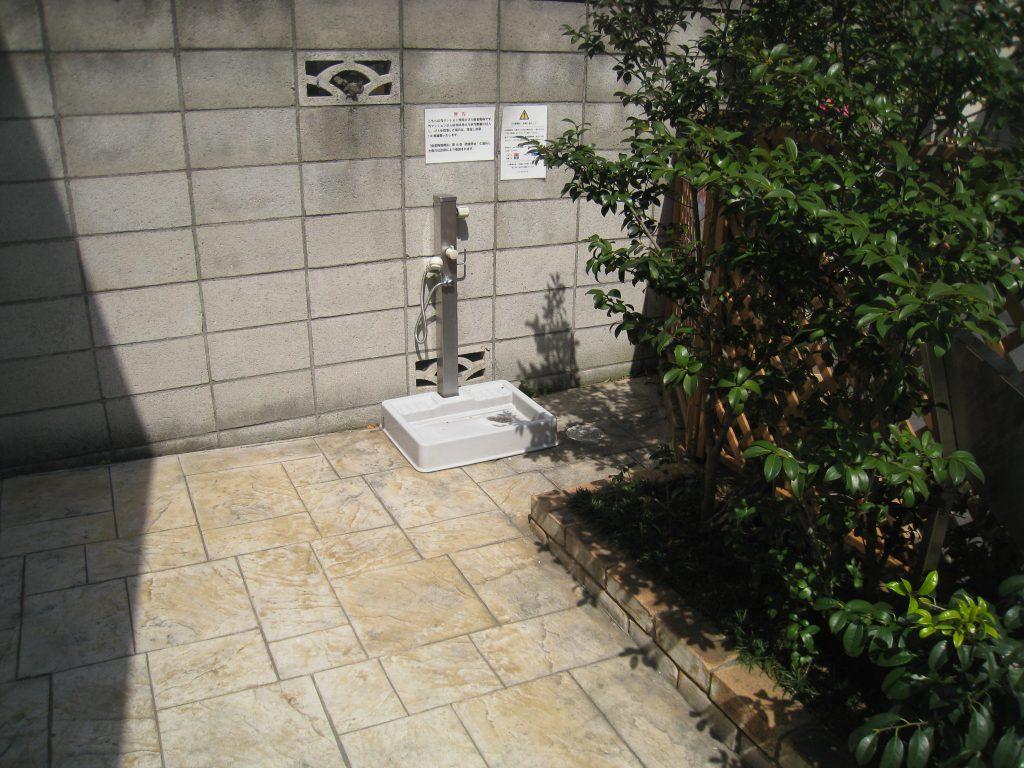 ペット足洗い場